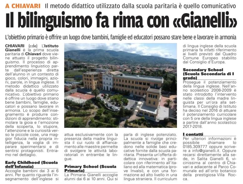 il bilinguismo fa rima con Gianelli